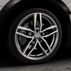 ALUTEC Ikenu graphit frontpoliert Felge mit Reifen grau mehrfarbig in 18Zoll Alufelge auf silbernem Mini F54 Typ UKL-L (Clubman) FMK ⬇️ mit 15mm Tieferlegung ⬇️ Industriehalle 1 Thumbnail