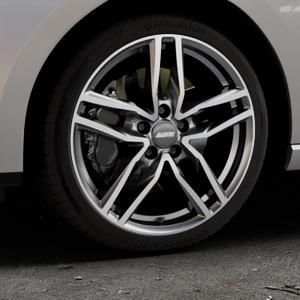 ALUTEC Ikenu graphit frontpoliert Felge mit Reifen grau mehrfarbig in 18Zoll Alufelge auf silbernem Seat Leon Typ 5F ST Facelift ⬇️ mit 15mm Tieferlegung ⬇️ Industriehalle 1 Thumbnail
