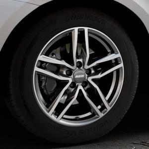 ALUTEC Ikenu graphit frontpoliert Felge mit Reifen grau mehrfarbig in 18Zoll Alufelge auf silbernem Volvo XC60 Typ D Facelift ⬇️ mit 15mm Tieferlegung ⬇️ Industriehalle 1 Thumbnail