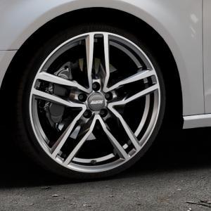 ALUTEC Ikenu graphit frontpoliert Felge mit Reifen grau mehrfarbig in 19Zoll Alufelge auf silbernem Audi A3 Typ 8V ⬇️ mit 15mm Tieferlegung ⬇️ Industriehalle 1 Thumbnail