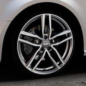 ALUTEC Ikenu graphit frontpoliert Felge mit Reifen grau mehrfarbig in 19Zoll Alufelge auf silbernem Audi A3 Typ 8V (Sportback) ⬇️ mit 15mm Tieferlegung ⬇️ Industriehalle 1 Thumbnail