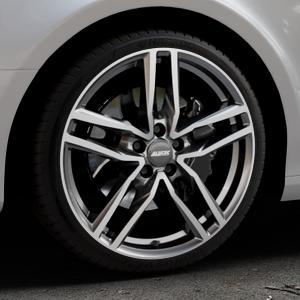 ALUTEC Ikenu graphit frontpoliert Felge mit Reifen grau mehrfarbig in 19Zoll Alufelge auf silbernem Audi A4 Typ 8K2/B8 (Limousine) ⬇️ mit 15mm Tieferlegung ⬇️ Industriehalle 1 Thumbnail