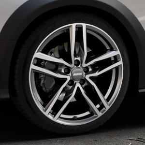 ALUTEC Ikenu graphit frontpoliert Felge mit Reifen grau mehrfarbig in 19Zoll Alufelge auf silbernem Audi A4 Typ 8KH/B8 Allroad ⬇️ mit 15mm Tieferlegung ⬇️ Industriehalle 1 Thumbnail