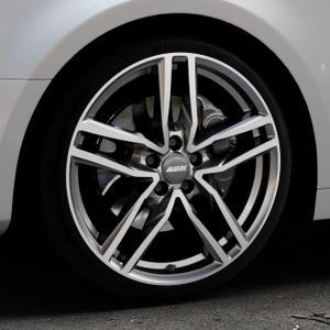 ALUTEC Ikenu graphit frontpoliert Felge mit Reifen grau mehrfarbig in 19Zoll Alufelge auf silbernem Audi A4 Typ B9 (Limousine) ⬇️ mit 15mm Tieferlegung ⬇️ Industriehalle 1 Thumbnail