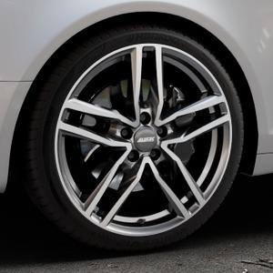 ALUTEC Ikenu graphit frontpoliert Felge mit Reifen grau mehrfarbig in 19Zoll Alufelge auf silbernem Audi A6 Typ 4F/C6 (Avant) ⬇️ mit 15mm Tieferlegung ⬇️ Industriehalle 1 Thumbnail