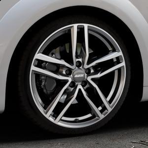 ALUTEC Ikenu graphit frontpoliert Felge mit Reifen grau mehrfarbig in 19Zoll Alufelge auf silbernem Audi TT III Typ 8S (Coupé) (Roadster) ⬇️ mit 15mm Tieferlegung ⬇️ Industriehalle 1 Thumbnail