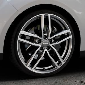 ALUTEC Ikenu graphit frontpoliert Felge mit Reifen grau mehrfarbig in 19Zoll Alufelge auf silbernem Ford C-Max II Typ DXA (10->) ⬇️ mit 15mm Tieferlegung ⬇️ Industriehalle 1 Thumbnail