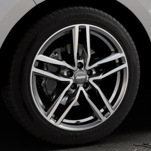 ALUTEC Ikenu graphit frontpoliert Felge mit Reifen grau mehrfarbig in 19Zoll Alufelge auf silbernem Ford Edge Typ SBF ⬇️ mit 15mm Tieferlegung ⬇️ Industriehalle 1 Thumbnail