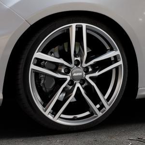ALUTEC Ikenu graphit frontpoliert Felge mit Reifen grau mehrfarbig in 19Zoll Alufelge auf silbernem Ford Focus III Typ DYB Facelift (Schrägheck) 2,3l EcoBoost 257kW RS (349 PS) ⬇️ mit 15mm Tieferlegung ⬇️ Industriehalle 1 Thumbnail