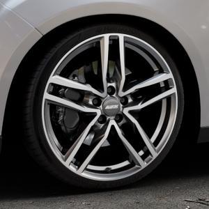 ALUTEC Ikenu graphit frontpoliert Felge mit Reifen grau mehrfarbig in 19Zoll Alufelge auf silbernem Ford Focus III Typ DYB Facelift (Schrägheck) ⬇️ mit 15mm Tieferlegung ⬇️ Industriehalle 1 Thumbnail