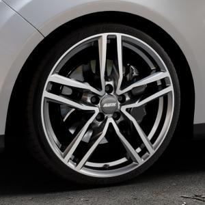 ALUTEC Ikenu graphit frontpoliert Felge mit Reifen grau mehrfarbig in 19Zoll Alufelge auf silbernem Ford Focus III Typ DYB (Turnier) ⬇️ mit 15mm Tieferlegung ⬇️ Industriehalle 1 Thumbnail