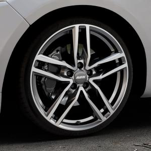 ALUTEC Ikenu graphit frontpoliert Felge mit Reifen grau mehrfarbig in 19Zoll Alufelge auf silbernem Ford Mondeo IV Limousine Typ BA7 Turnier Fließheck ⬇️ mit 15mm Tieferlegung ⬇️ Industriehalle 1 Thumbnail
