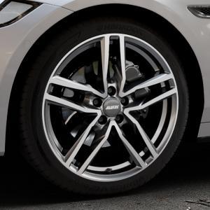 ALUTEC Ikenu graphit frontpoliert Felge mit Reifen grau mehrfarbig in 19Zoll Alufelge auf silbernem Jaguar XF Sportbrake Typ JB ⬇️ mit 15mm Tieferlegung ⬇️ Industriehalle 1 Thumbnail