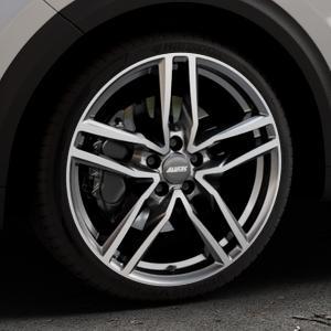 ALUTEC Ikenu graphit frontpoliert Felge mit Reifen grau mehrfarbig in 19Zoll Alufelge auf silbernem Kia Niro Typ DE ⬇️ mit 15mm Tieferlegung ⬇️ Industriehalle 1 Thumbnail
