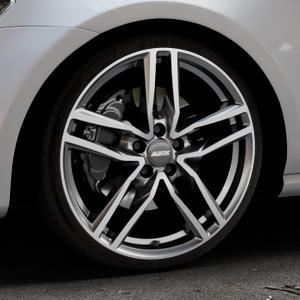 ALUTEC Ikenu graphit frontpoliert Felge mit Reifen grau mehrfarbig in 19Zoll Alufelge auf silbernem Volkswagen (VW) Golf 7 ⬇️ mit 15mm Tieferlegung ⬇️ Industriehalle 1 Thumbnail