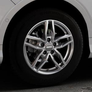 ALUTEC Ikenu metal-grey Felge mit Reifen grau in 16Zoll Winterfelge Alufelge auf silbernem Ford Kuga II Facelift (15->) (17->) ⬇️ mit 15mm Tieferlegung ⬇️ Industriehalle 1 Thumbnail