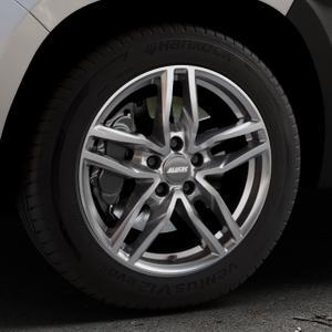 ALUTEC Ikenu metal-grey Felge mit Reifen grau in 17Zoll Winterfelge Alufelge auf silbernem Dacia Duster Typ SR ⬇️ mit 15mm Tieferlegung ⬇️ Industriehalle 1 Thumbnail