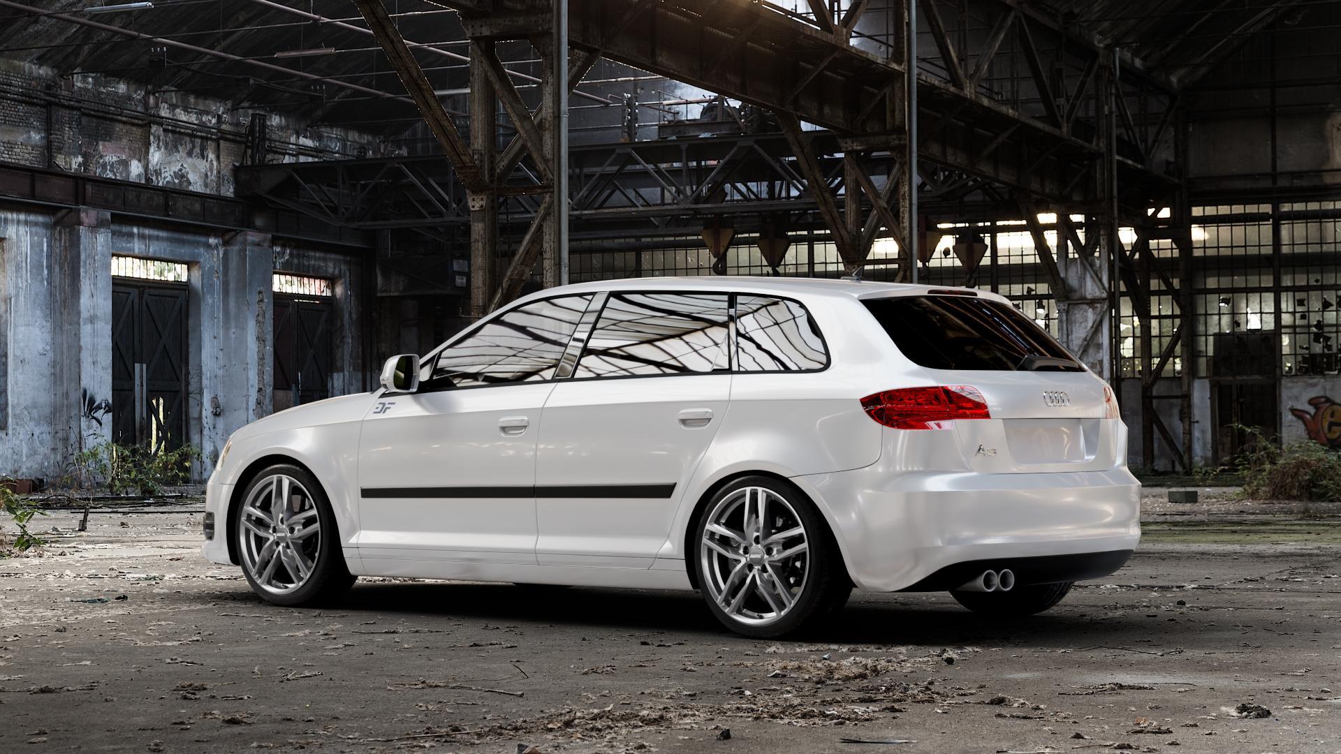 ALUTEC Ikenu metal-grey Felge mit Reifen grau in 18Zoll Winterfelge Alufelge auf weissem Audi A3 Typ 8P (Sportback) 1,6l 75kW (102 PS) 2,0l FSI 110kW (150 1,9l TDI 77kW (105 103kW (140 TFSI 147kW (200 85kW (116 100kW (136 1,8l 118kW (160 125kW (170 1,4l 92kW (125 120kW (163 quattro 3,2l V6 184kW (250 S3 195kW (265 1,2l 66kW (90 18