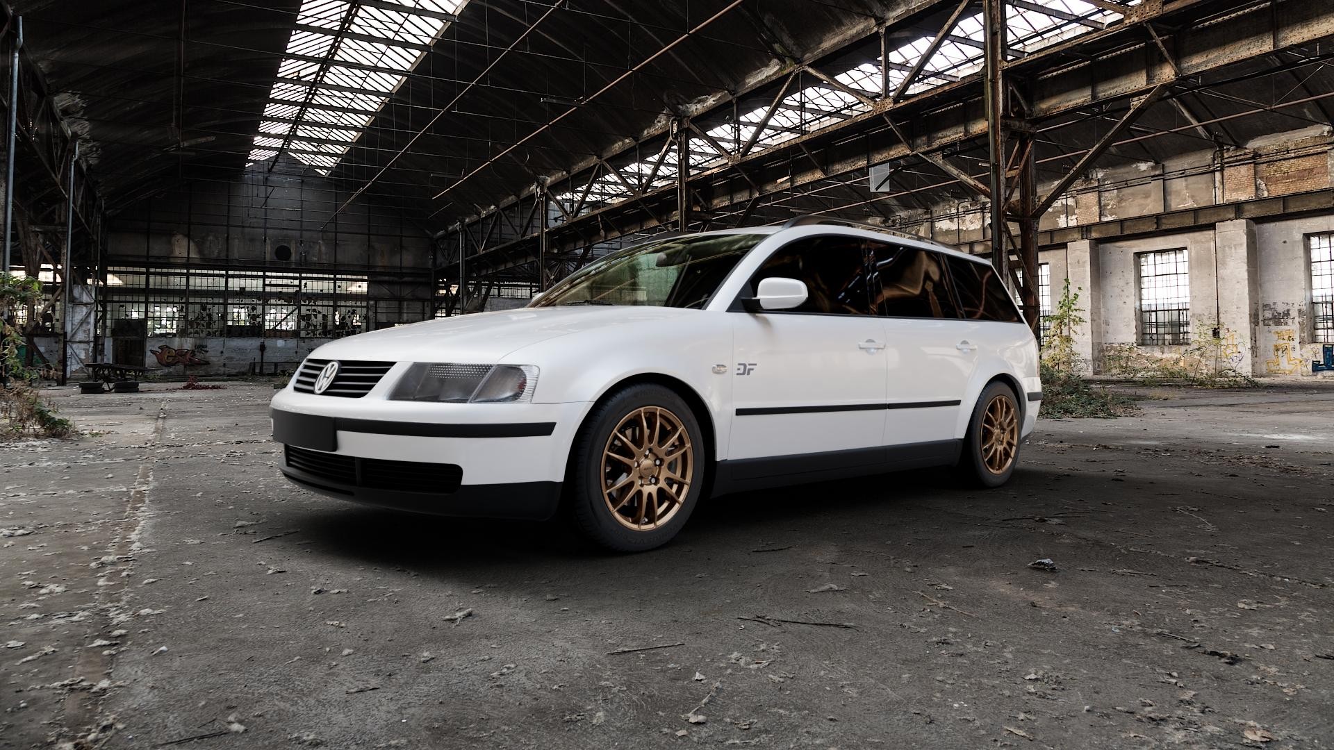 ALUTEC Monstr metallic-bronze Felge mit Reifen in 16Zoll Winterfelge Alufelge auf weissem Volkswagen (VW) Passat 3B Limousine Variant ⬇️ mit 15mm Tieferlegung ⬇️ Industriehalle 1 Camera_000
