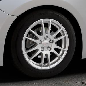 ALUTEC Monstr polar-silber Felge mit Reifen in 16Zoll Winterfelge Alufelge auf silbernem Mazda 3 (13-) Stufenheck (BM) Sport (17-) Facelift Fließheck ⬇️ mit 15mm Tieferlegung ⬇️ Industriehalle 1 Thumbnail