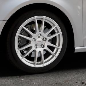 ALUTEC Monstr polar-silber Felge mit Reifen in 17Zoll Winterfelge Alufelge auf silbernem Audi A3 Typ 8V ⬇️ mit 15mm Tieferlegung ⬇️ Industriehalle 1 Thumbnail