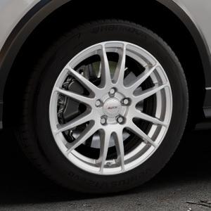 ALUTEC Monstr polar-silber Felge mit Reifen in 17Zoll Winterfelge Alufelge auf silbernem Audi Q2 Typ GA ⬇️ mit 15mm Tieferlegung ⬇️ Industriehalle 1 Thumbnail