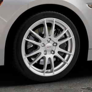 ALUTEC Monstr polar-silber Felge mit Reifen in 17Zoll Winterfelge Alufelge auf silbernem Fiat 124 Spider Typ NF ⬇️ mit 15mm Tieferlegung ⬇️ Industriehalle 1 Thumbnail