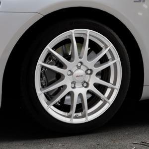 ALUTEC Monstr polar-silber Felge mit Reifen in 17Zoll Winterfelge Alufelge auf silbernem Volkswagen (VW) Scirocco III Typ 13 ⬇️ mit 15mm Tieferlegung ⬇️ Industriehalle 1 Thumbnail