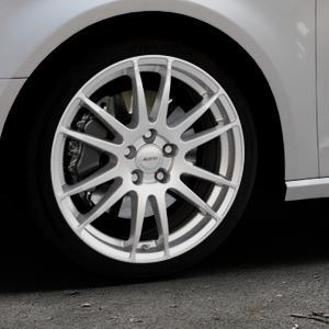 ALUTEC Monstr polar-silber Felge mit Reifen in 18Zoll Winterfelge Alufelge auf silbernem Audi A3 Typ 8V ⬇️ mit 15mm Tieferlegung ⬇️ Industriehalle 1 Thumbnail