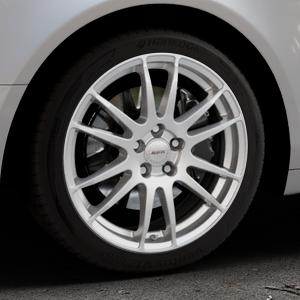 ALUTEC Monstr polar-silber Felge mit Reifen in 18Zoll Winterfelge Alufelge auf silbernem Audi A6 Typ 4F/C6 (Limousine) ⬇️ mit 15mm Tieferlegung ⬇️ Industriehalle 1 Thumbnail