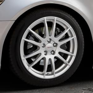 ALUTEC Monstr polar-silber Felge mit Reifen in 18Zoll Winterfelge Alufelge auf silbernem Audi A6 Typ 4G/C7 (Limousine) ⬇️ mit 15mm Tieferlegung ⬇️ Industriehalle 1 Thumbnail