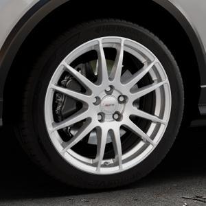 ALUTEC Monstr polar-silber Felge mit Reifen in 18Zoll Winterfelge Alufelge auf silbernem Audi Q2 Typ GA ⬇️ mit 15mm Tieferlegung ⬇️ Industriehalle 1 Thumbnail