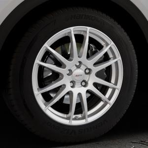 ALUTEC Monstr polar-silber Felge mit Reifen in 18Zoll Winterfelge Alufelge auf silbernem Audi Q5 II Typ FY ⬇️ mit 15mm Tieferlegung ⬇️ Industriehalle 1 Thumbnail