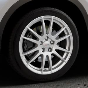 ALUTEC Monstr polar-silber Felge mit Reifen in 18Zoll Winterfelge Alufelge auf silbernem BMW X1 Typ F48 (UKL-L) (F1X) ⬇️ mit 15mm Tieferlegung ⬇️ Industriehalle 1 Thumbnail