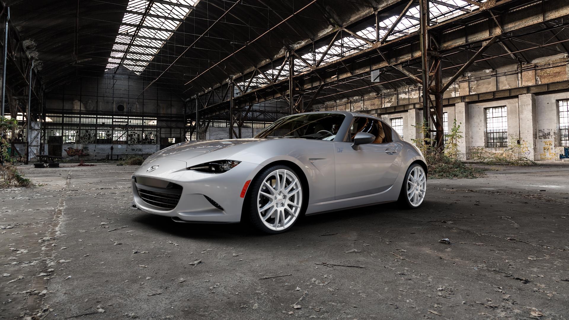 ALUTEC Monstr polar-silber Felge mit Reifen in 18Zoll Winterfelge Alufelge auf silbernem Mazda MX-5 IV RF (ND) ⬇️ mit 15mm Tieferlegung ⬇️ Industriehalle 1 Camera_000