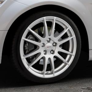 ALUTEC Monstr polar-silber Felge mit Reifen in 18Zoll Winterfelge Alufelge auf silbernem Mercedes C-Klasse Typ W204 Limousine ⬇️ mit 15mm Tieferlegung ⬇️ Industriehalle 1 Thumbnail