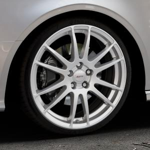 ALUTEC Monstr polar-silber Felge mit Reifen in 19Zoll Winterfelge Alufelge auf silbernem Audi A3 Typ 8V (Cabriolet) ⬇️ mit 15mm Tieferlegung ⬇️ Industriehalle 1 Thumbnail