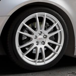 ALUTEC Monstr polar-silber Felge mit Reifen in 19Zoll Winterfelge Alufelge auf silbernem Audi A6 Typ 4G/C7 (Avant) ⬇️ mit 15mm Tieferlegung ⬇️ Industriehalle 1 Thumbnail