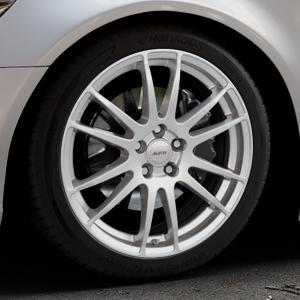 ALUTEC Monstr polar-silber Felge mit Reifen in 19Zoll Winterfelge Alufelge auf silbernem Audi A6 Typ 4G/C7 (Limousine) ⬇️ mit 15mm Tieferlegung ⬇️ Industriehalle 1 Thumbnail