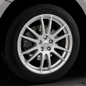 ALUTEC Monstr polar-silber Felge mit Reifen in 19Zoll Winterfelge Alufelge auf silbernem Audi Q5 I Typ 8R ⬇️ mit 15mm Tieferlegung ⬇️ Industriehalle 1 Thumbnail