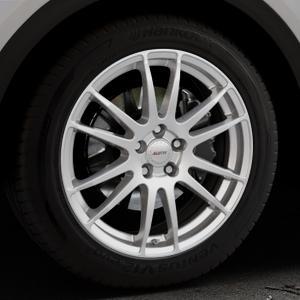 ALUTEC Monstr polar-silber Felge mit Reifen in 19Zoll Winterfelge Alufelge auf silbernem Audi Q5 II Typ FY ⬇️ mit 15mm Tieferlegung ⬇️ Industriehalle 1 Thumbnail