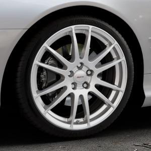 ALUTEC Monstr polar-silber Felge mit Reifen in 19Zoll Winterfelge Alufelge auf silbernem Mercedes SL Typ R230 ⬇️ mit 15mm Tieferlegung ⬇️ Industriehalle 1 Thumbnail