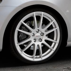 ALUTEC Monstr polar-silber Felge mit Reifen in 19Zoll Winterfelge Alufelge auf silbernem Volkswagen (VW) Golf 7 ⬇️ mit 15mm Tieferlegung ⬇️ Industriehalle 1 Thumbnail