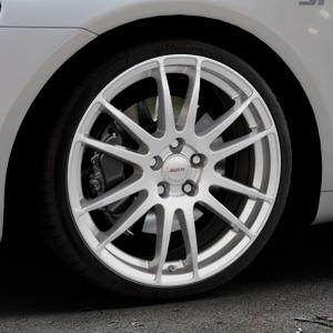 ALUTEC Monstr polar-silber Felge mit Reifen in 19Zoll Winterfelge Alufelge auf silbernem Volkswagen (VW) Scirocco III Typ 13 ⬇️ mit 15mm Tieferlegung ⬇️ Industriehalle 1 Thumbnail