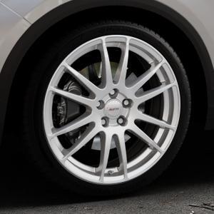ALUTEC Monstr polar-silber Felge mit Reifen in 19Zoll Winterfelge Alufelge auf silbernem Volkswagen (VW) T-Roc ⬇️ mit 15mm Tieferlegung ⬇️ Industriehalle 1 Thumbnail