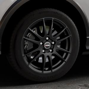 ALUTEC Monstr racing-schwarz Felge mit Reifen in 17Zoll Winterfelge Alufelge auf silbernem Audi Q2 Typ GA ⬇️ mit 15mm Tieferlegung ⬇️ Industriehalle 1 Thumbnail