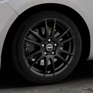 ALUTEC Monstr racing-schwarz Felge mit Reifen in 17Zoll Winterfelge Alufelge auf silbernem Ford Mondeo IV Limousine Typ BA7 Turnier Fließheck ⬇️ mit 15mm Tieferlegung ⬇️ Industriehalle 1 Thumbnail