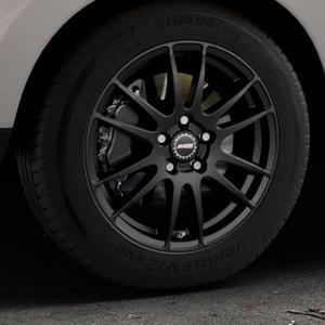 ALUTEC Monstr racing-schwarz Felge mit Reifen in 17Zoll Winterfelge Alufelge auf silbernem Hyundai ix35 Typ EL ELH LM LMFC ⬇️ mit 15mm Tieferlegung ⬇️ Industriehalle 1 Thumbnail