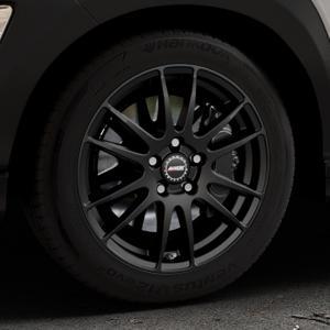 ALUTEC Monstr racing-schwarz Felge mit Reifen in 17Zoll Winterfelge Alufelge auf silbernem Hyundai Kona Typ OS ⬇️ mit 15mm Tieferlegung ⬇️ Industriehalle 1 Thumbnail