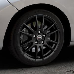 ALUTEC Monstr racing-schwarz Felge mit Reifen in 17Zoll Winterfelge Alufelge auf silbernem Peugeot 207 CC ⬇️ mit 15mm Tieferlegung ⬇️ Industriehalle 1 Thumbnail